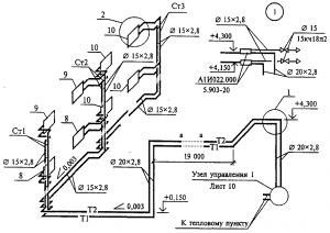 Проектирование. Аксонометрия системы отопления