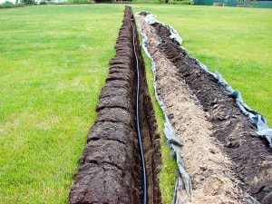 Прокладка поливочного трубопровода