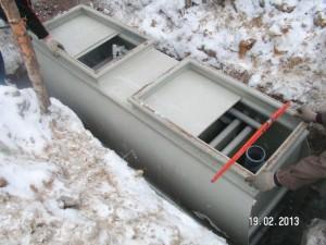 Монтаж станции глубокой биологической очистки