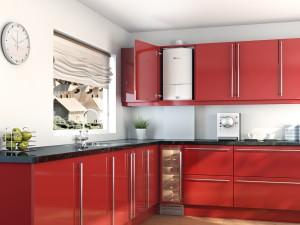 Монтаж котла на кухне в квартире